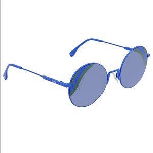 Fendi blue round cut sunglasses
